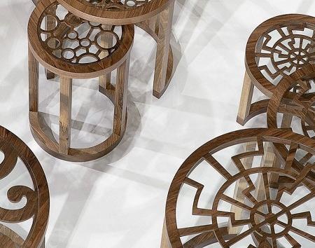 Zestaw oryginalnych stolików pomocniczych Zetzet 1