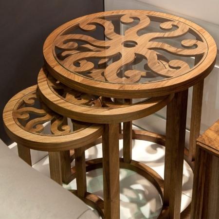 Zestaw stolików kawowych z dekoracyjnym blatem Octopus 1