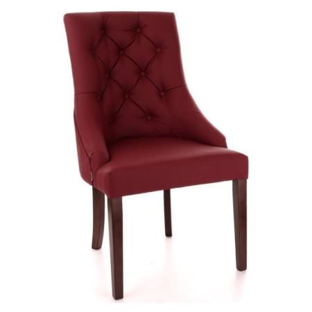 Eleganckie krzesło z wysokim pikowanym oparciem