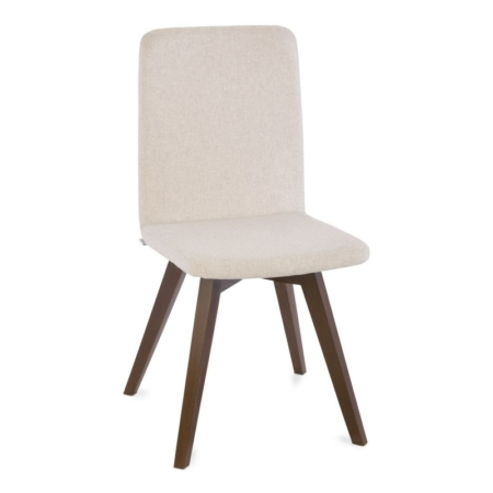 Nowoczesne krzesło ze sklejki i tapicerki