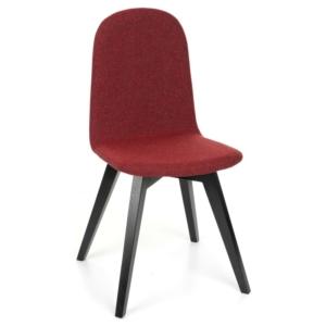 Nowoczesne krzesło ze sklejki pokrytej tapicerką