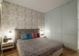 Sypialnia z dużą garderobą
