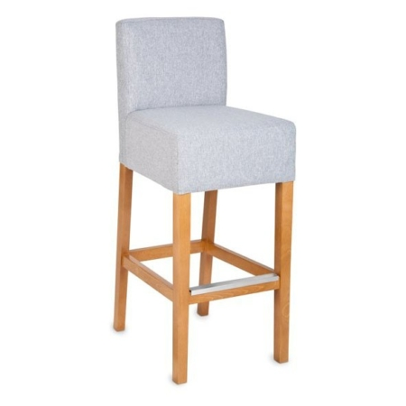 Tapicerowane krzesło barowe z oparciem