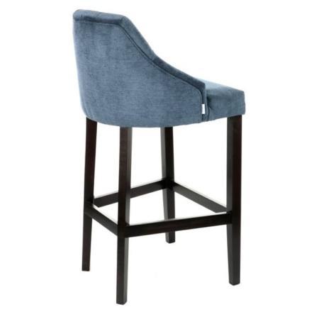 Tapicerowane krzesło barowe z pikowanym oparciem