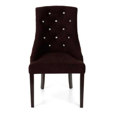 Tapicerowane krzesło glamour