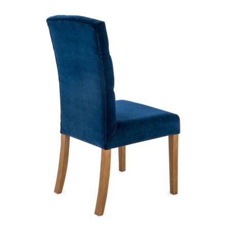 Tapicerowane krzesło z pikowanym oparciem