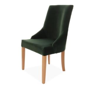Tapicerowane krzesło z wysokim oparciem