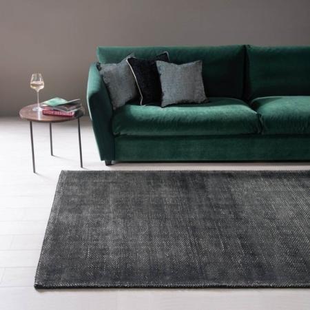 Antracytowy dywan ręcznie tkany Pero