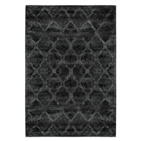 Antracytowy dywan ręcznie tkany Tanger