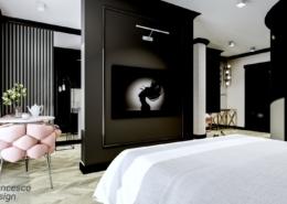 Apartament hotelowy w stylu klasycznym modern classic