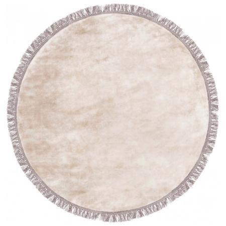Beżowy dywan ręcznie tkany okrągły Luna