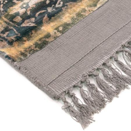 Beżowy eklektyczny dywan ręcznie tkany Blush