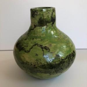 Ceramiczny zielony wazon wypalany rękodzieło Ginko Design