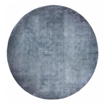 Ciemnoniebieski dywan ręcznie tkany Linen
