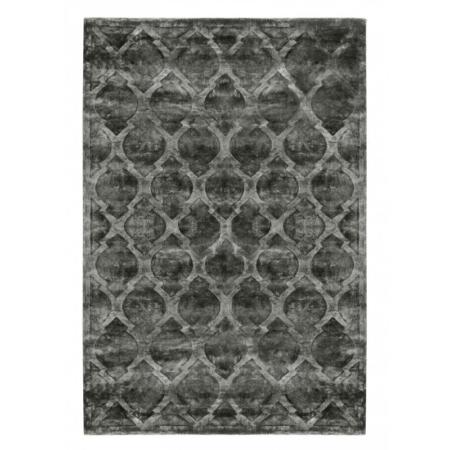Ciemnoszary dywan ręcznie tkany Tanger
