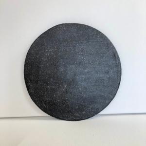 Czarny talerz dekoracyjny ceramiczny rękodzieło Wabi Sabi