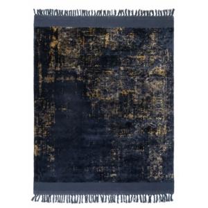 Eklektyczny dywan granatowy ręcznie tkany Blush