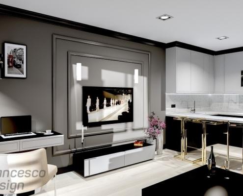 Elegancki apartament w stylu modern art deco