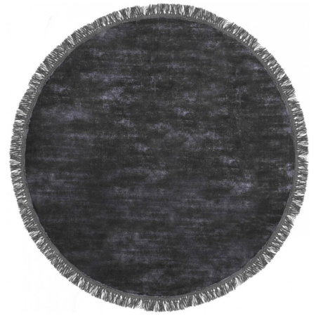 Grafitowy dywan ręcznie tkany okrągły Luna