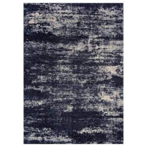 Granatowo-beżowy dywan łatwoczyszczący Flare