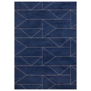 Granatowy dywan łatwoczyszczący Marlin