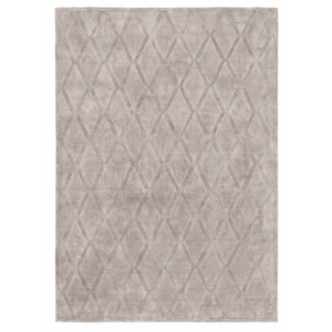 Jasnoszary dywan ręcznie tkany Gabia