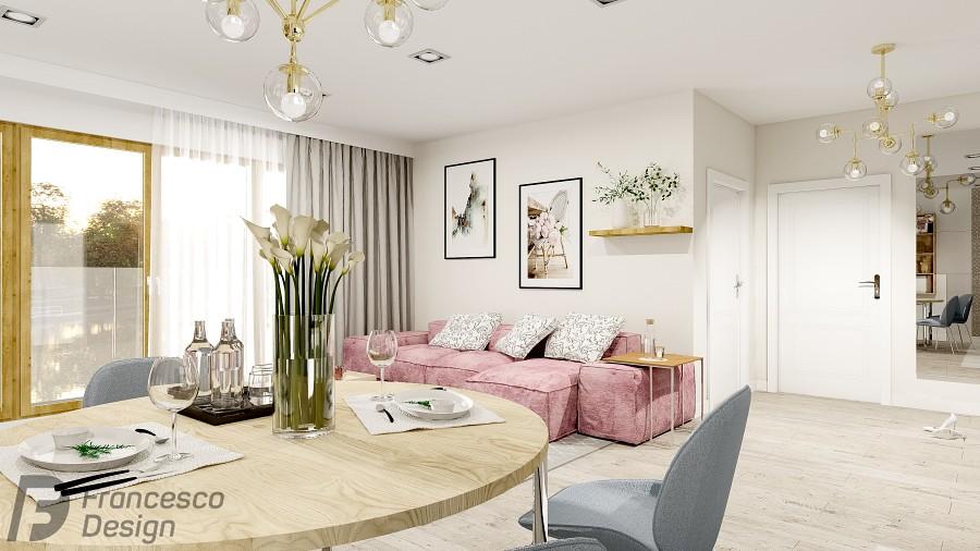 Jasny apartament w romantycznym wydaniu