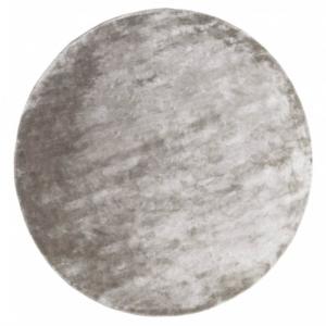 Okrągły dywan jasnoszary ręcznie tkany Aracelis