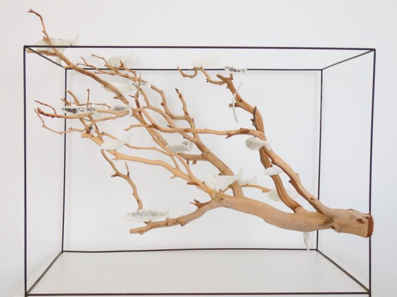 Rzeźby do wnętrz komercyjnych L'arbre aux papillons Geneviève Mathieu