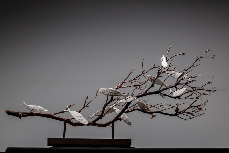 Rzeźby do wnętrz komercyjnych Le Corail Geneviève Mathieu