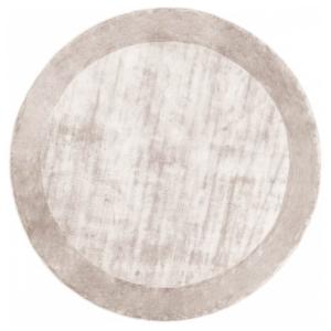 Srebrny dywan okrągły ręcznie tkany Tere