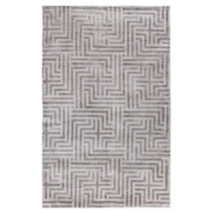 Wzorzysty dywan ręcznie tkany szary Leara
