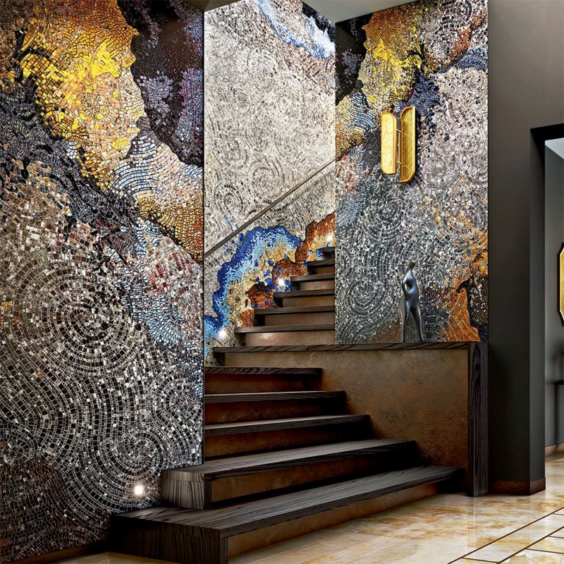 Artystyczna mozaika we wnętrzach hol