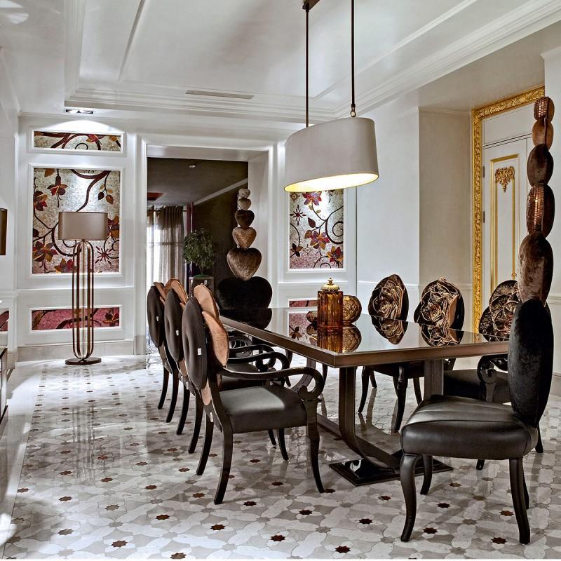 Artystyczna mozaika we wnętrzach jadalnia
