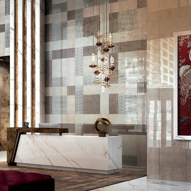 Artystyczna mozaika we wnętrzach recepcja