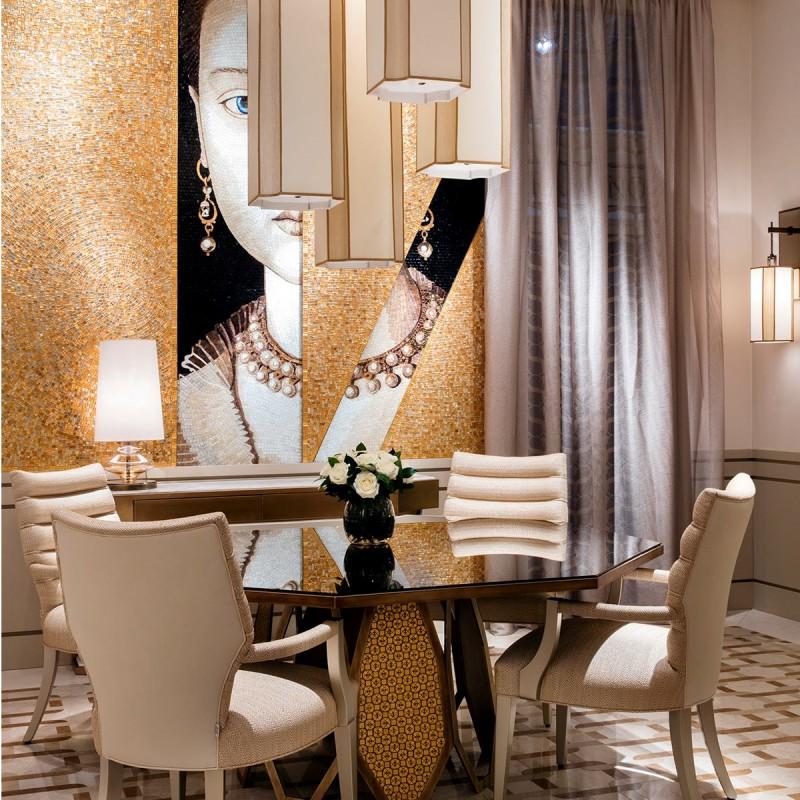 Artystyczna mozaika we wnętrzach restauracja 3