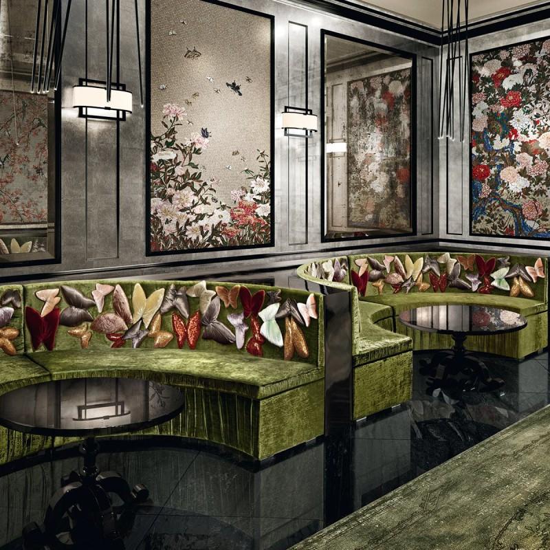 Artystyczna mozaika we wnętrzach restauracja