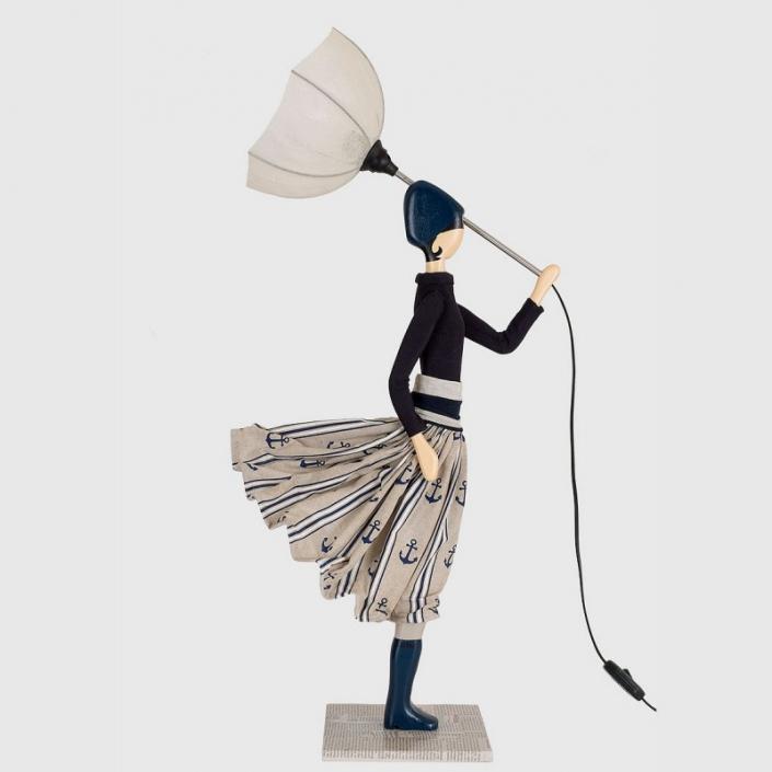 Śródziemnomorska lampka dekoracyjna kobieta w sukience CREOLIN