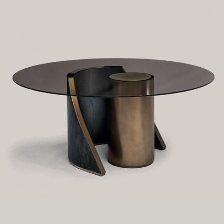 Designerski stół z okrągłym  blatem Hege.jpg