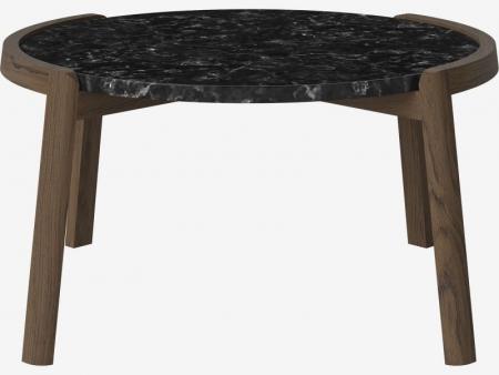 Designerski stolik kawowy drewno i marmur Mix 4 Bolia