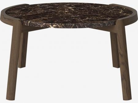 Designerski stolik kawowy drewno i marmur Mix 6 Bolia