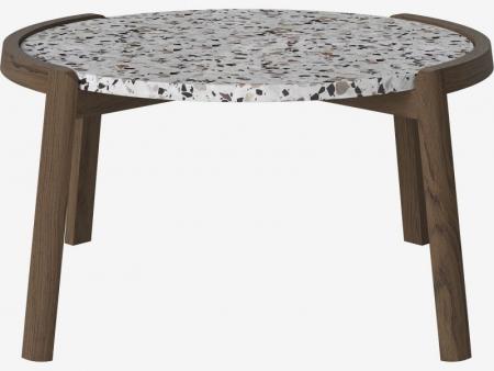 Designerski stolik kawowy drewno i marmur Mix 8 Bolia