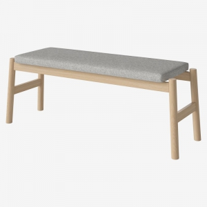 Drewniana ławka z tapicerowanym siedziskiem Float Bolia