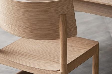 Drewniane krzesło sztaplowane Tune 11 Bolia