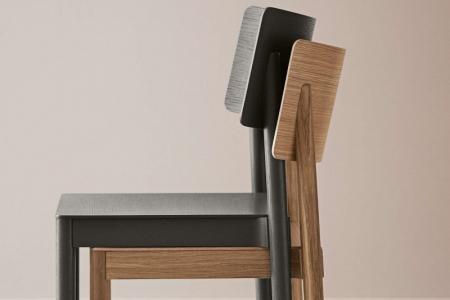 Drewniane krzesło sztaplowane Tune 7 Bolia