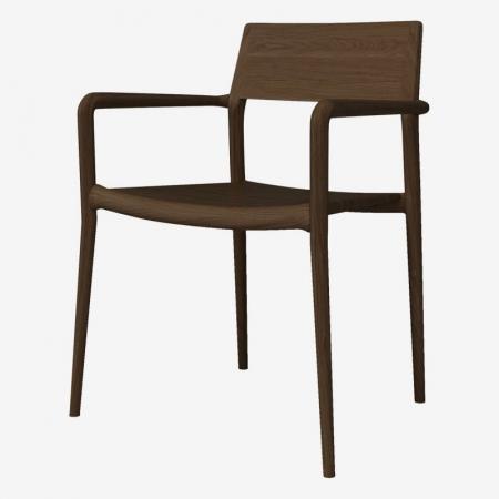 Drewniane krzesło z podłokietnikami Chicago Bolia