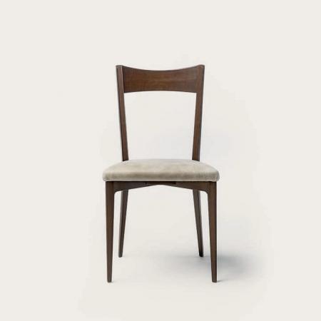 Drewniane krzesło z tapicerowanym siedziskiem Prism Chair.jpg