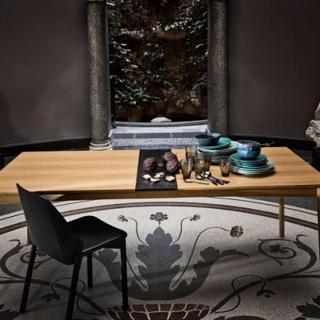 Drewniany stół z marmurowym dekorem Meet 1 Bolia