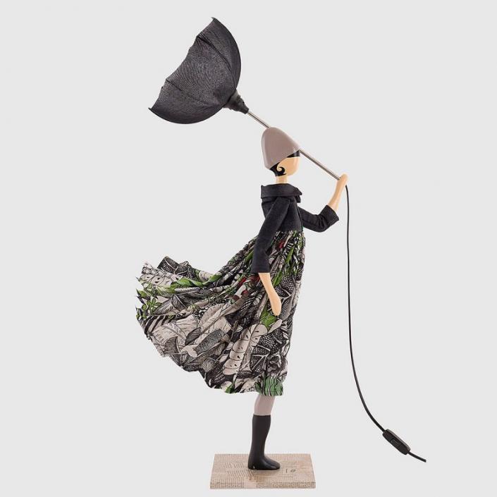Elegancka lampa stołowa kobieta SUE ELEN