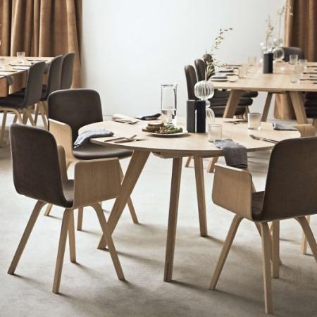 Krzesło tapicerowane z podłokietnikami Palm 1 Bolia